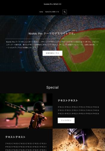 Nishiki Pro テーマ デモサイト03 スポーツ系